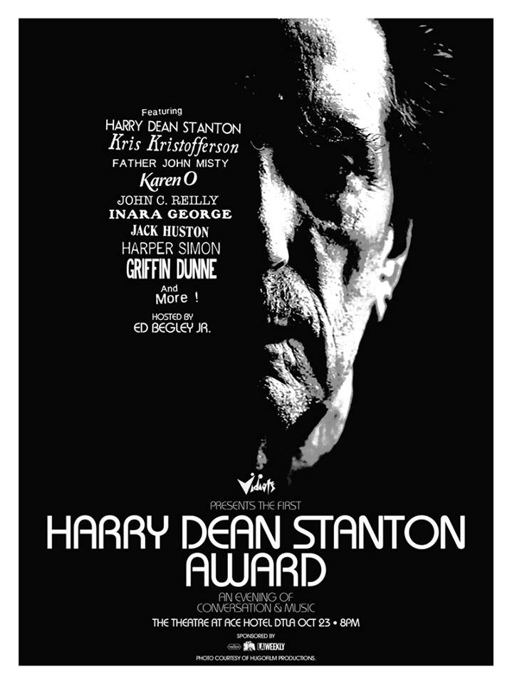 Kris Kristofferson & John C. Reilly Headline Harry Dean Stanton Award Night